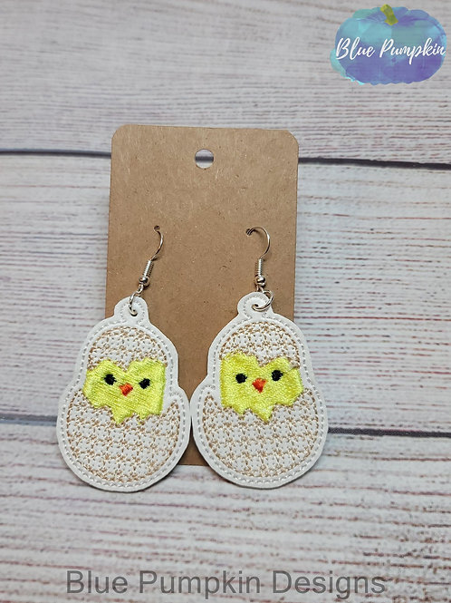 Chick in egg Earrings