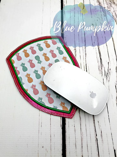 5x7 ITH Shield Applique Mouse Pad Design
