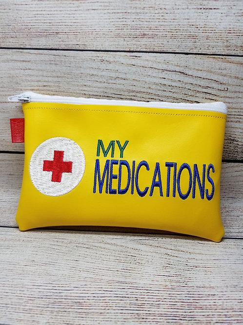 5x7 My Medications ITH Zipper Bag Design