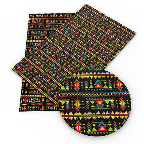 Colorful Shapes Southwest Vibe Embroidery Vinyl