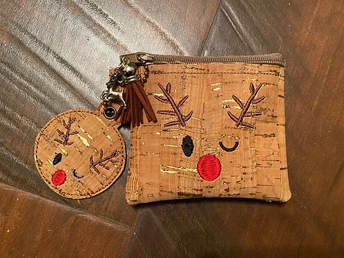 4x4 Winking Reindeer ITH Bag Design