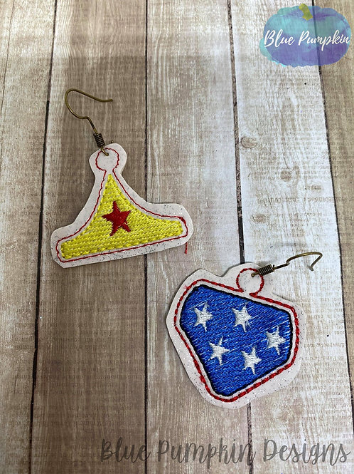 Super Woman Outfit Earrings