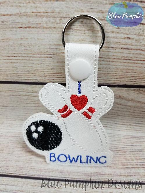 I Love Bowling Key Fob