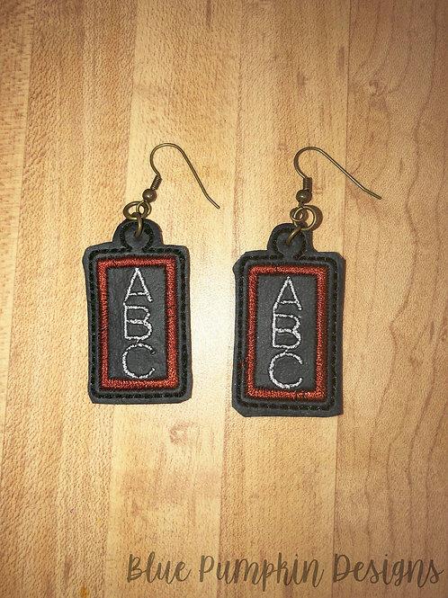 Chalk Board Earrings
