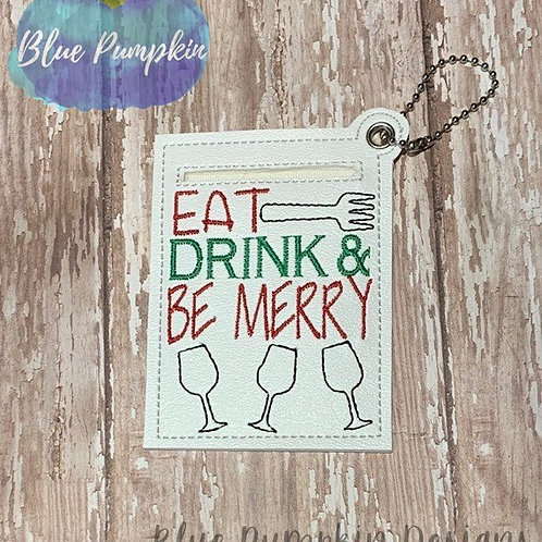Eat Drink Merry Gift Card Holder