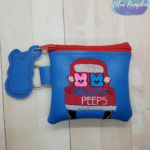3 sizes Welcome PEEPS Zipper Bag Design