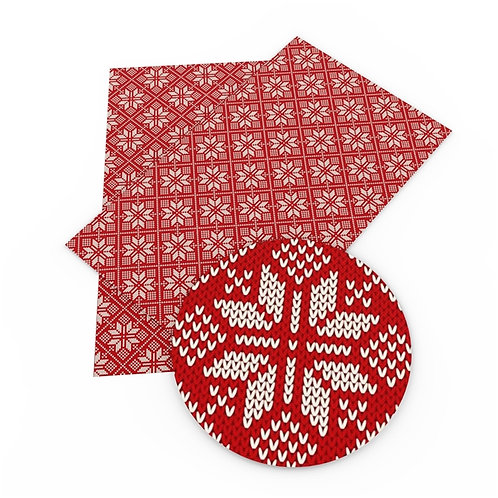 Faux Sweater  Snowflakes Embroidery Vinyl