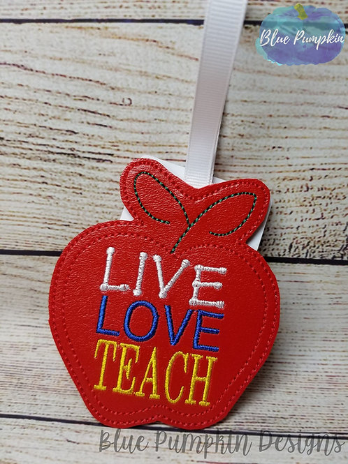 Live Love Teach Ornament and Gift Card Holder