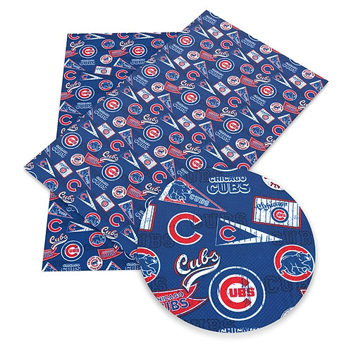 Distressed Messy Vintage Cubs Embroidery Vinyl