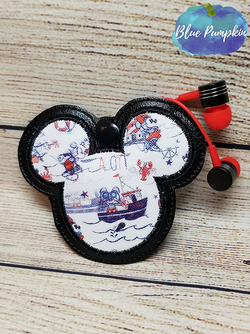 Applique Mouse Earbud Holder