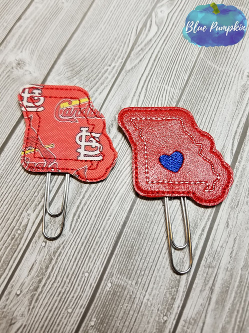 Missouri Paper Clip Toppers