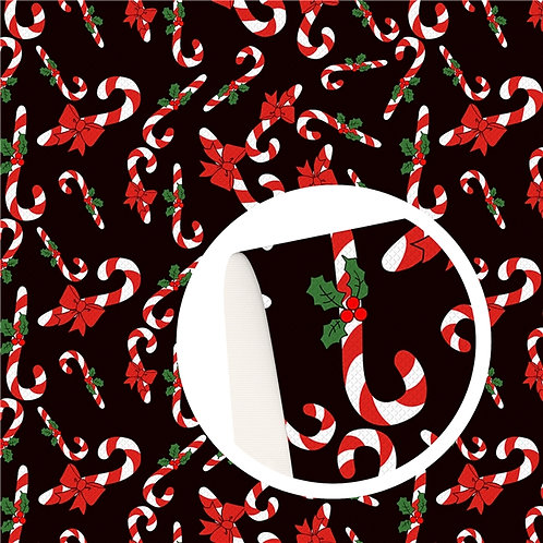 Candy Canes Embroidery Vinyl