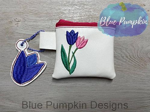 3 sizes Tulips Zipper Bag Design