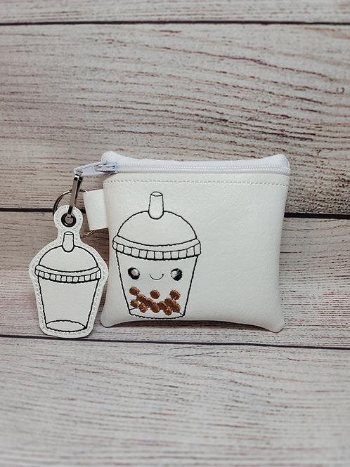 Boba Tea 4x4/ 5x5 Zipper Bag Design