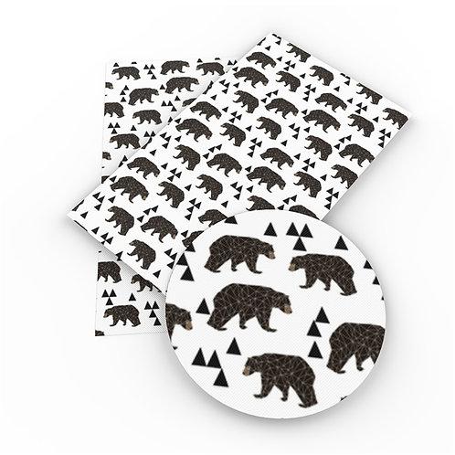 SOLID Black Bears Embroidery Vinyl