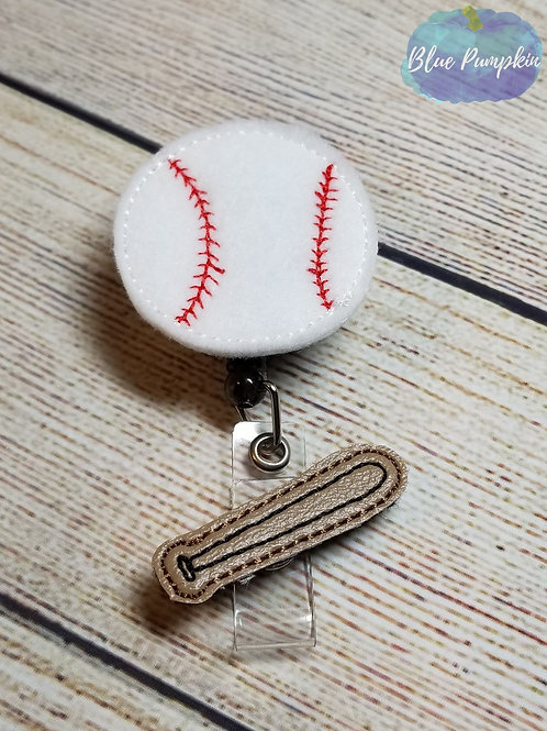 Baseball Badge Reel Feltie Design