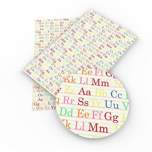 Alphabet Printed Embroidery Vinyl