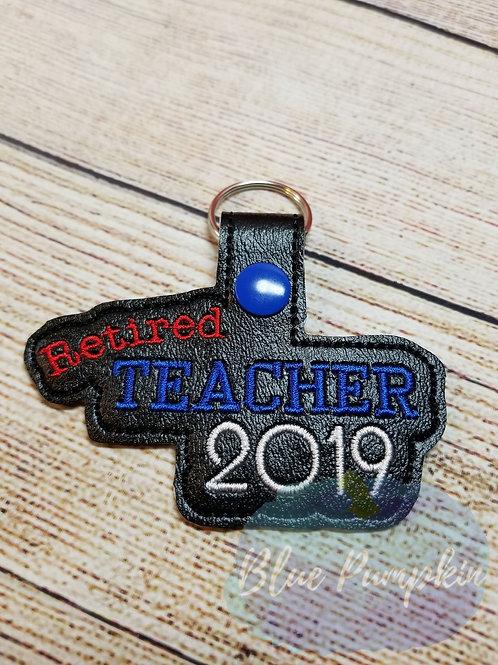 2019 Retired Teacher Key Fob