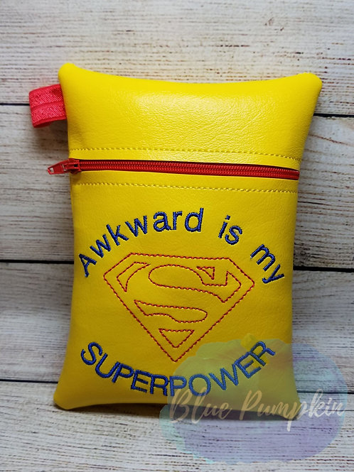 Awkward Superhero ITH Zipper Bag Design