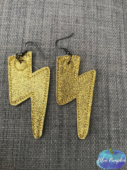 Lightening Bolt Earrings Design