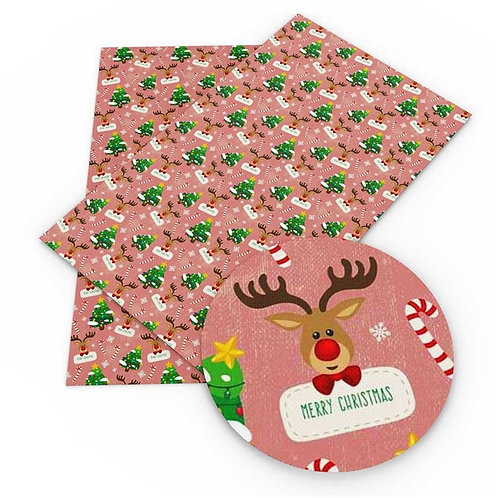 Reindeer with Sign and Christmas Trees Embroidery Vinyl