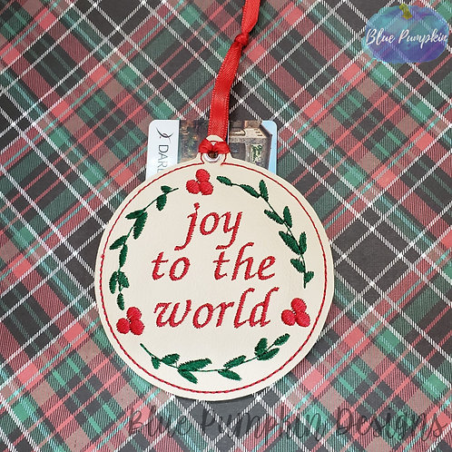 Joy to the World Ornament and Gift Card Holder