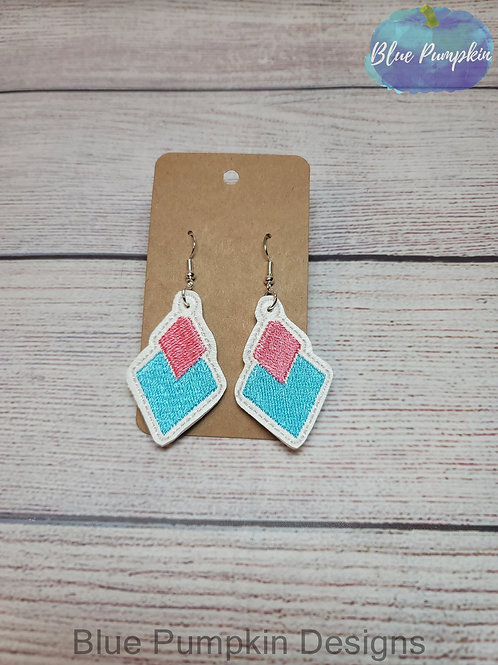Duo Triangles Stacked Earrings