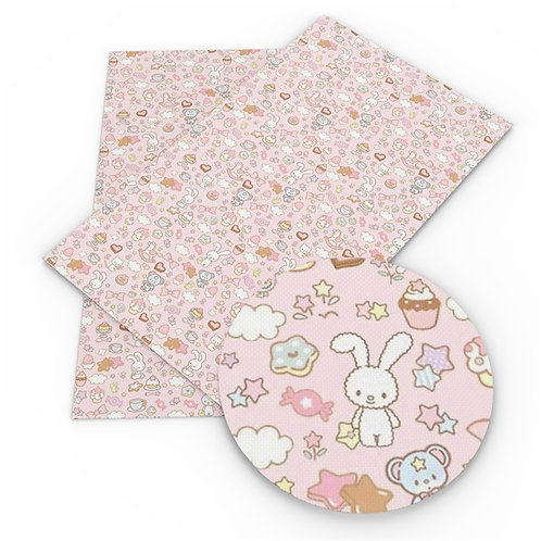Sweets and Pink Tiny Creatures Embroidery Vinyl