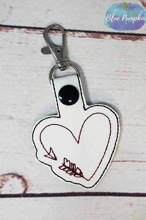 Arrow heart Key Fob