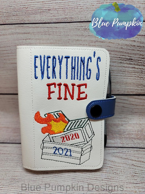 2021 Dumpster Fire 5x7 Mini Comp ITH Notebook Cover