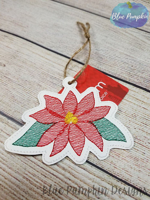 Poinsettia Ornament and Gift Card Holder