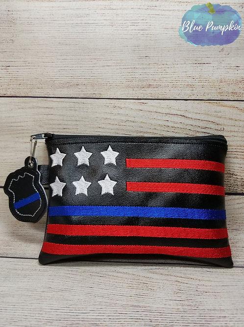 Police Flag ITH Zipper Bag Design