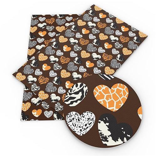 Animal Hearts  Embroidery Vinyl
