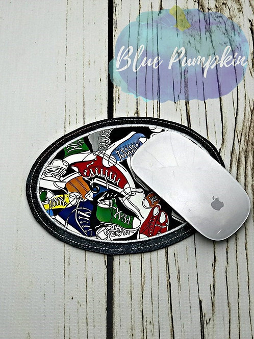 ALL SIZES  ITH Oval Applique Mouse Pad Design