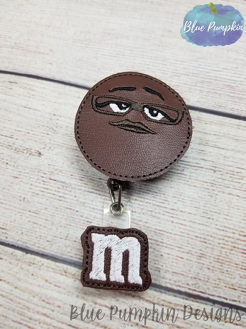 Brown Candy badge Reel Feltie Design