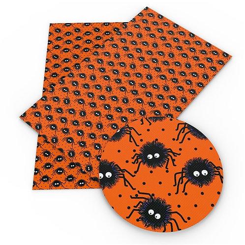 Orange with Cutie Tiny Spiders