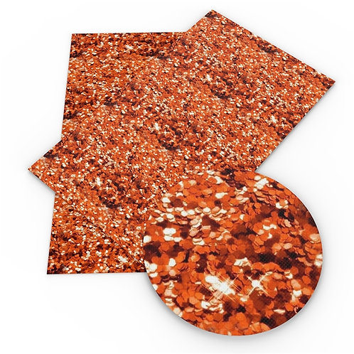 Faux Copper Glitter Embroidery Vinyl