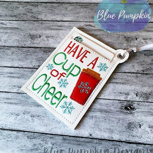 Cup of Cheer Gift Card Holder