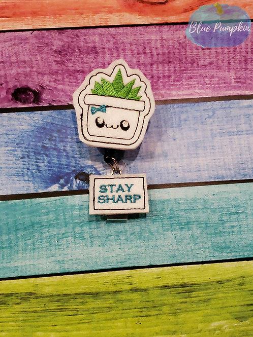 Stay Sharp Badge Reel Feltie Design