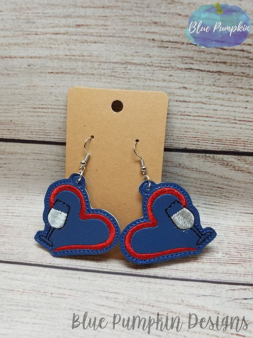 Wine Heart Earrings