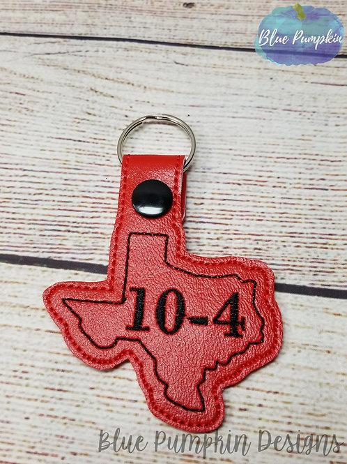 Texas 10-4 Key Fob