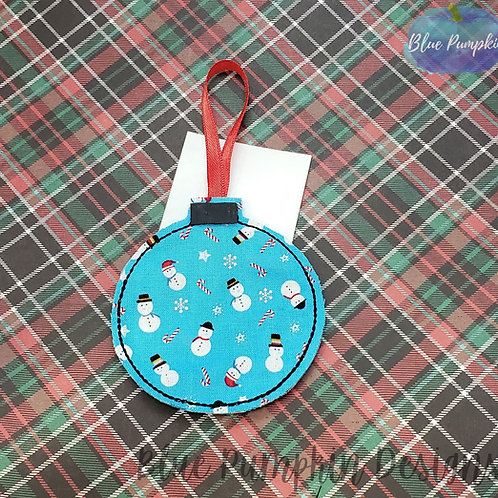 Blank Ornament and Gift Card Holder