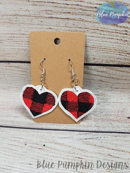 Buffalo Heart Earrings
