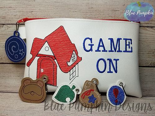 GAME ON AC Switch 6x10 ITH Zipper Bag Design