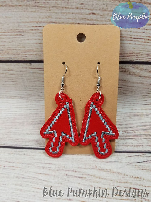 8 Bit Arrow Earrings