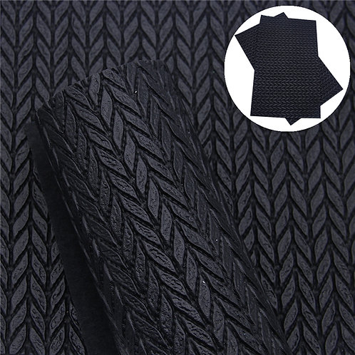 Black Cable Knit  Embroidery Vinyl