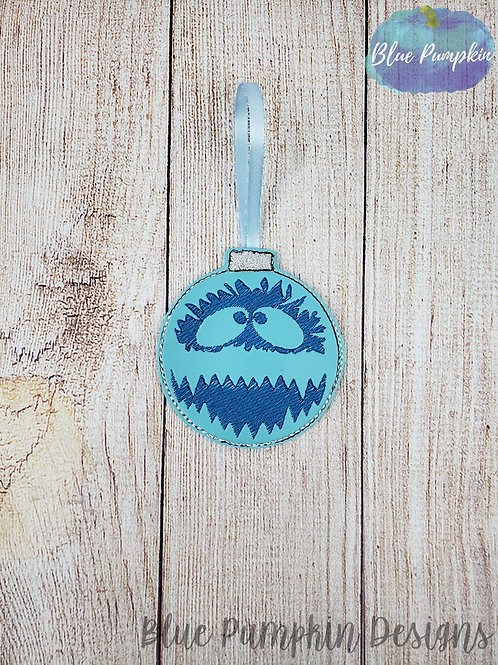 Abominable Snowman Ornament and Gift Card Holder