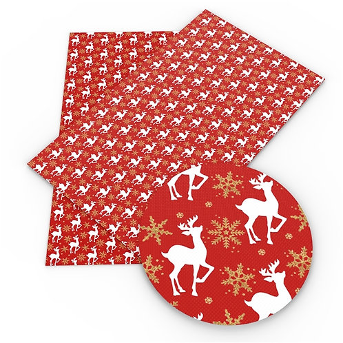 Deer and Snowflakes Embroidery Vinyl