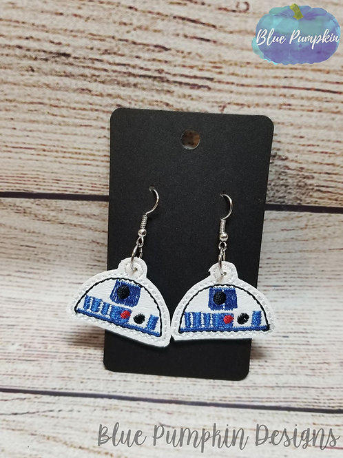Half Moon R2 Robot Earrings