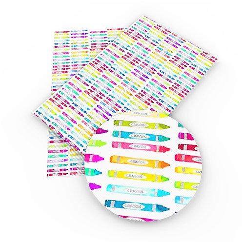 Watercolor Crayons Embroidery Vinyl